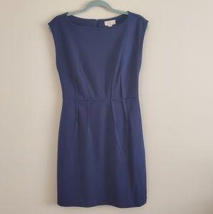 Loft Blue knit dress, size 4